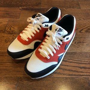 Nike Air Max 1 White Black Varsity Red